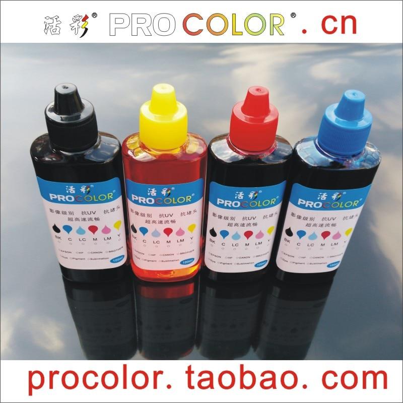 PROCOLOR T6641 T6644 T664 Fotófesték-festék festék festékpalack Az Epson CISS L 386 486 380 L386 L486 tintasugaras nyomtatótöltő készlet