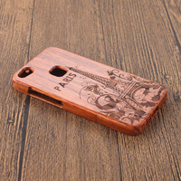 Hand Carving Cartoon Pattern Bamboo Wooden Phone Case For Huawei P10 Lite Back Cover Luxury Wood