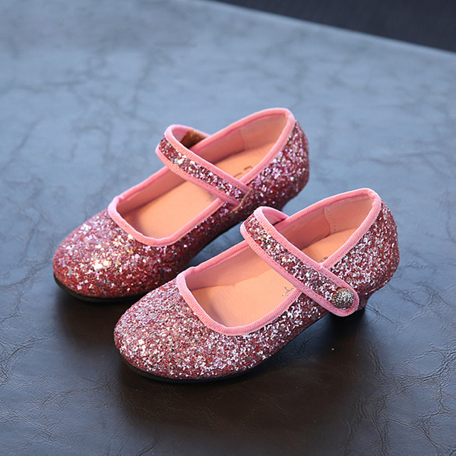 2016 Autumn new kids shoes for girls fashion bling girls dress shoes kids beautiful princess single shoes children