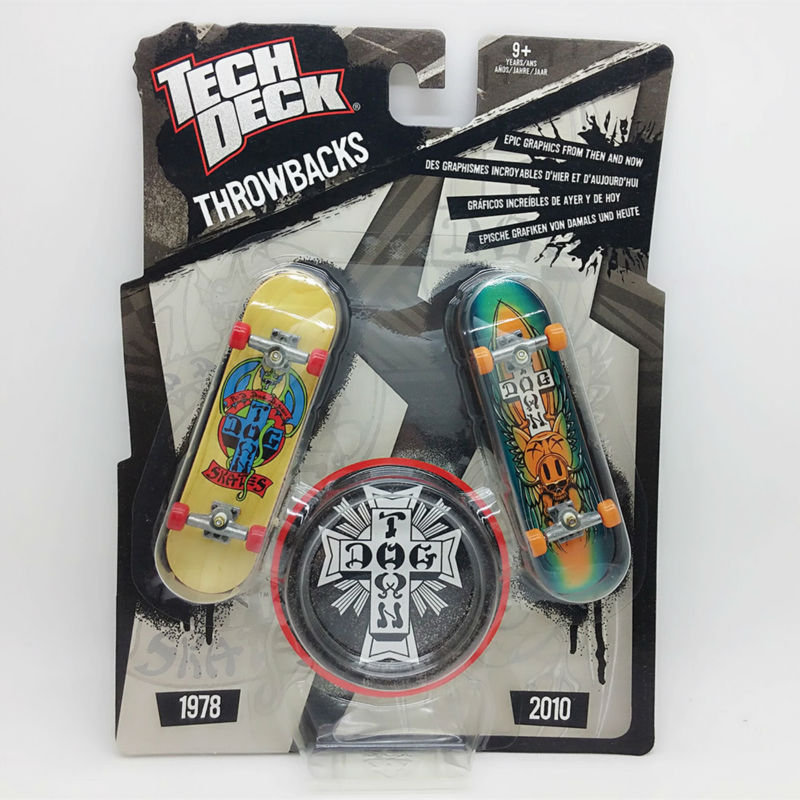 Brand New 1pc double board 96mm Fingerboard throwbacks Tech Decks DG Skateboard H Street Original package