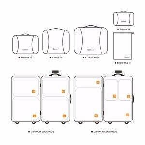 Image 4 - Gonex 9 יח\סט נסיעות אחסון תיק מזוודה ארגונית תליית Ziplock מלתחת בגדי דחיסת אריזה קוביות