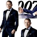 tailor made 2015 Dinner Groom Tuxedos Best Man Wedding Slim Fit Navy Mens Clothing Party Suits Bridegroom Jacket+Pants+Tie