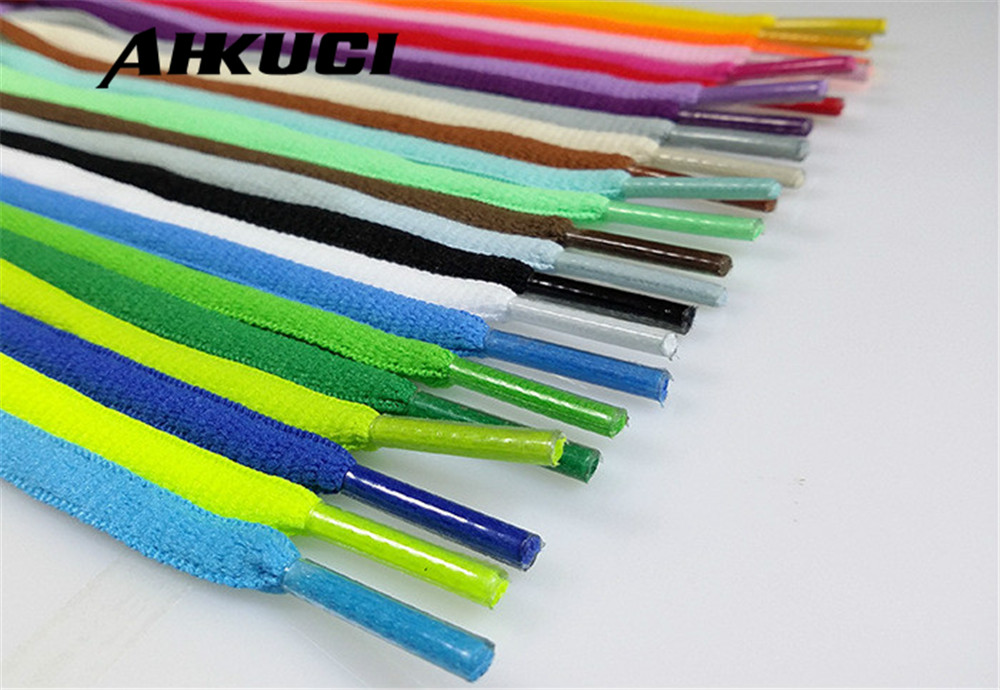 Wholessale 10 Pairs Oval Round Shoelace Athletic Sport Sneakers Flat Shoelaces Bootlaces Shoe laces Strings Multi Color 130cm 5 pairs 1cm width british scotland plover grid style shoelaces canvas shoes sneakers flat shoes lace 70 80 90 100 110 120 130cm