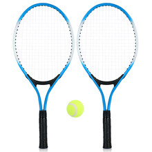 REGAIL 2Pcs Kids Tennis Racket String Tennis Racquets High Quality Rackets with 1 Tennis Ball and Cover Bag Free Shipping(China)