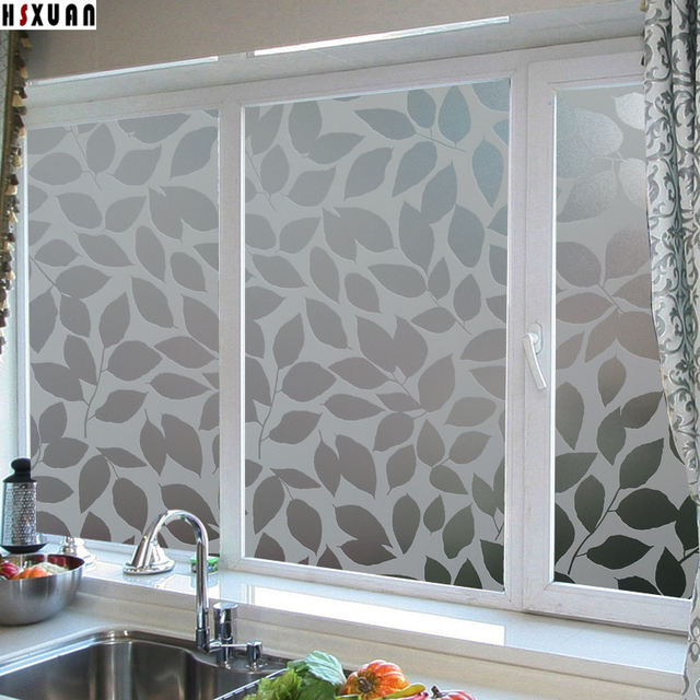 Decorative paste window insulation films 50x100cm leaf decal waterproof self adhesive glue window stickers hsxuan