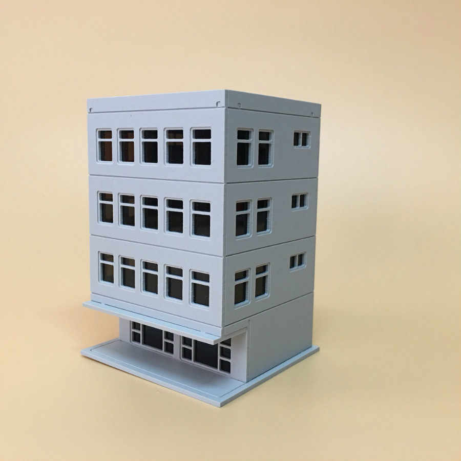 Two 1//87 Scale Construction Office Trailer Plastic Models  Work Site Accessories