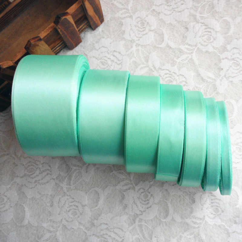 Khoảng cách 25 mét Xanh Bạc Hà 6 10 15 20 25 40 50mm Lụa Satin Nơ nghệ thuật thủ công MaY nơ tay hàng thủ công chất liệu Tặng