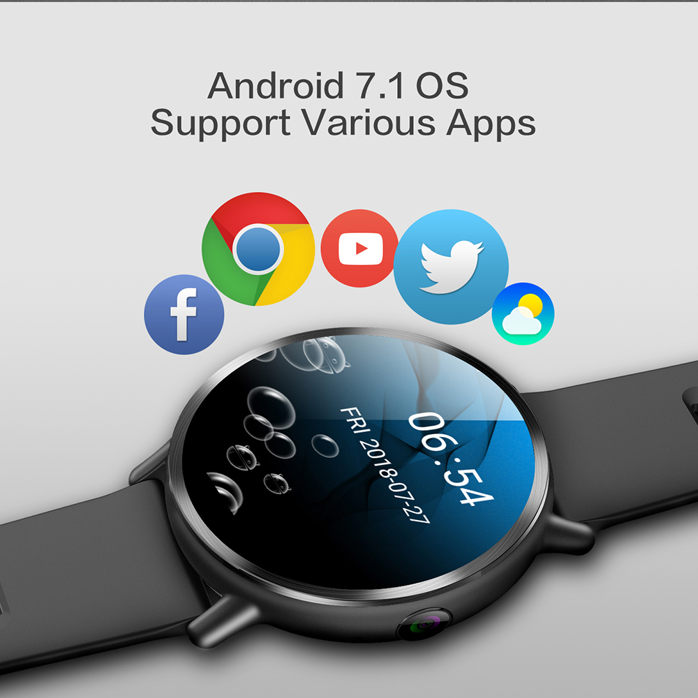 cheapest LEMFO LEM X 4G Smart Watch Android 7 1 With 8MP Camera GPS 2 03 inch Screen 900Mah Battery Sport Business Strap For Men