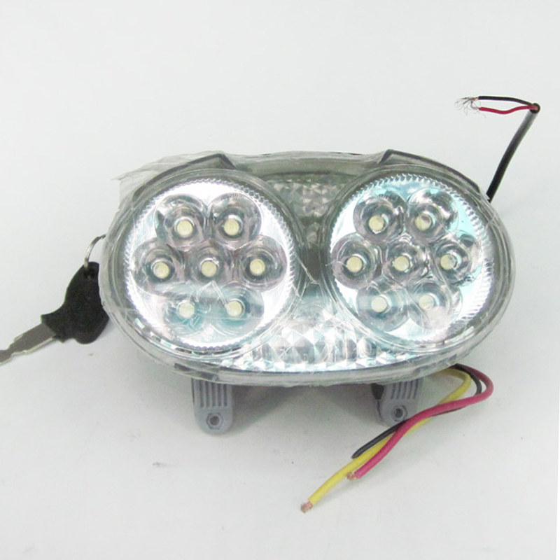 5 in1 LED Headlight Frontlight for Electric Bike Scooter 48V Light with <font><b>Horn</b></font> Lock