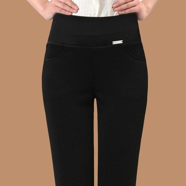 Free Shipping Women Cotton Office Winter Fleece Legging Women's Female New Leggings Velvet Thick Warm Fitness Pant Plus Size 837