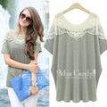 New Women Summer Casual Basic Lace Blouse loose Elegant cotton Sexy Hollow out Top Shirt patchwork blusas Plus Size XL~5XL