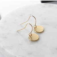 Earring Korean Metal Mini Round Small Circle Piece A Stall Goods Spread Out The Ground For Sale LOU707 weij silver 925 jewelry