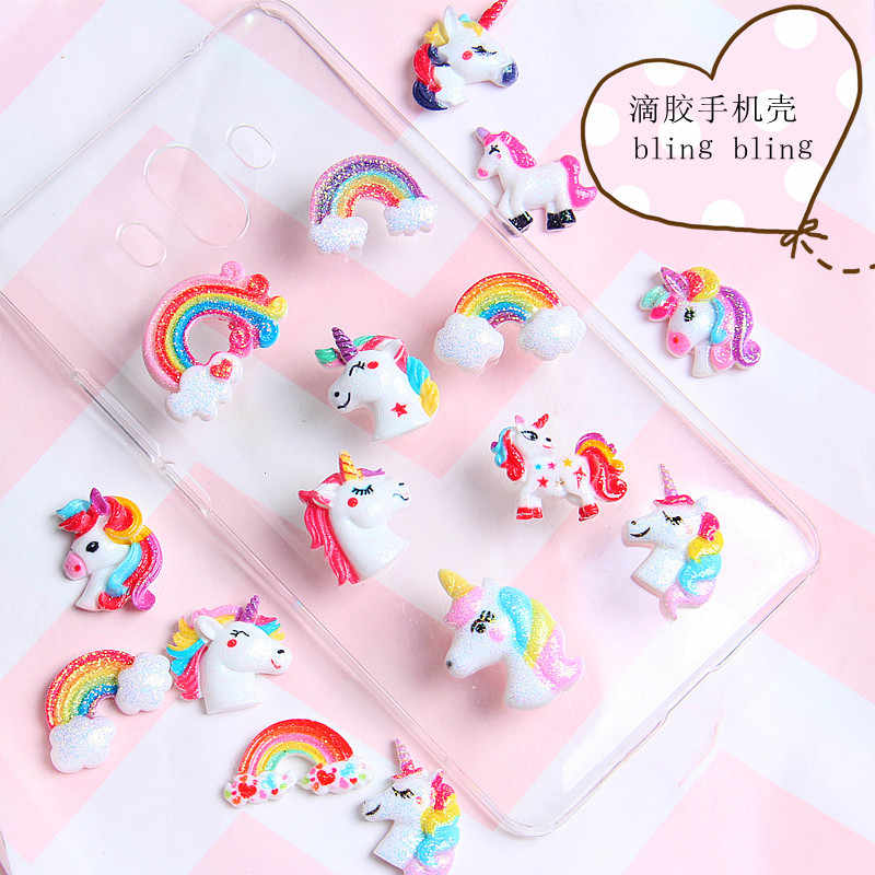 Rainbow Unicorn Addition Slime Filler for Slime DIY Polymer Addition Slime Accessories Toy Charm Lizun Model Tool for Kid Toys E