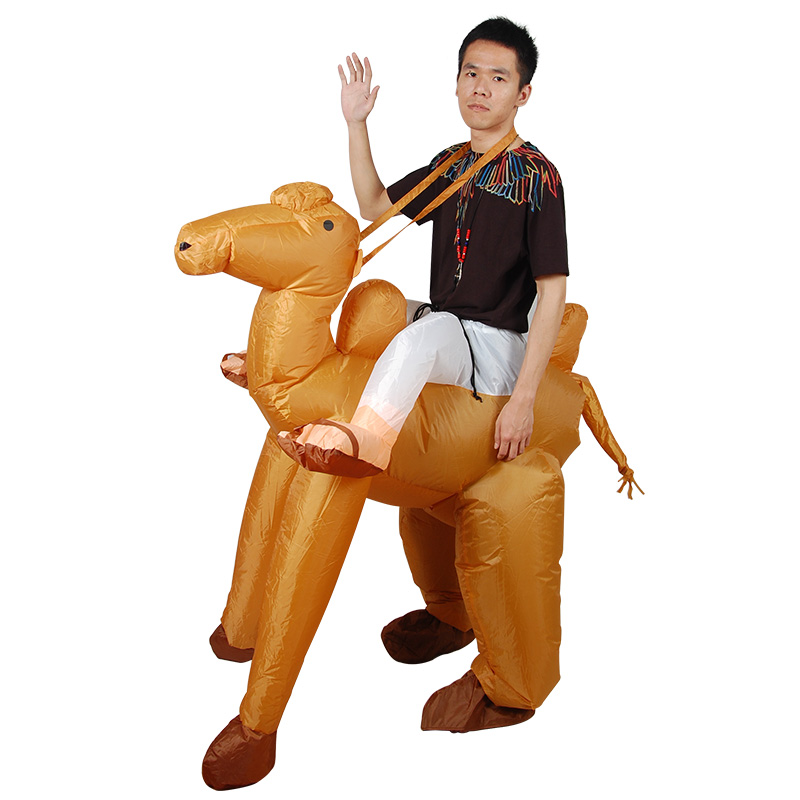 Holiday Carnival Inflatable Camel-Animal Costume Cowboy Deer Inflatable Costumes for Kids Christmas Funny Dress Disfraces Mujer