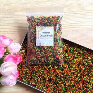 Image 3 - JIMITU 10000 sztuk/worek kryształ gleby hydrożel żel polimerowy Orbiz koraliki wodne kwiat/ślub/dekoracje Maison rosnące kule wodne