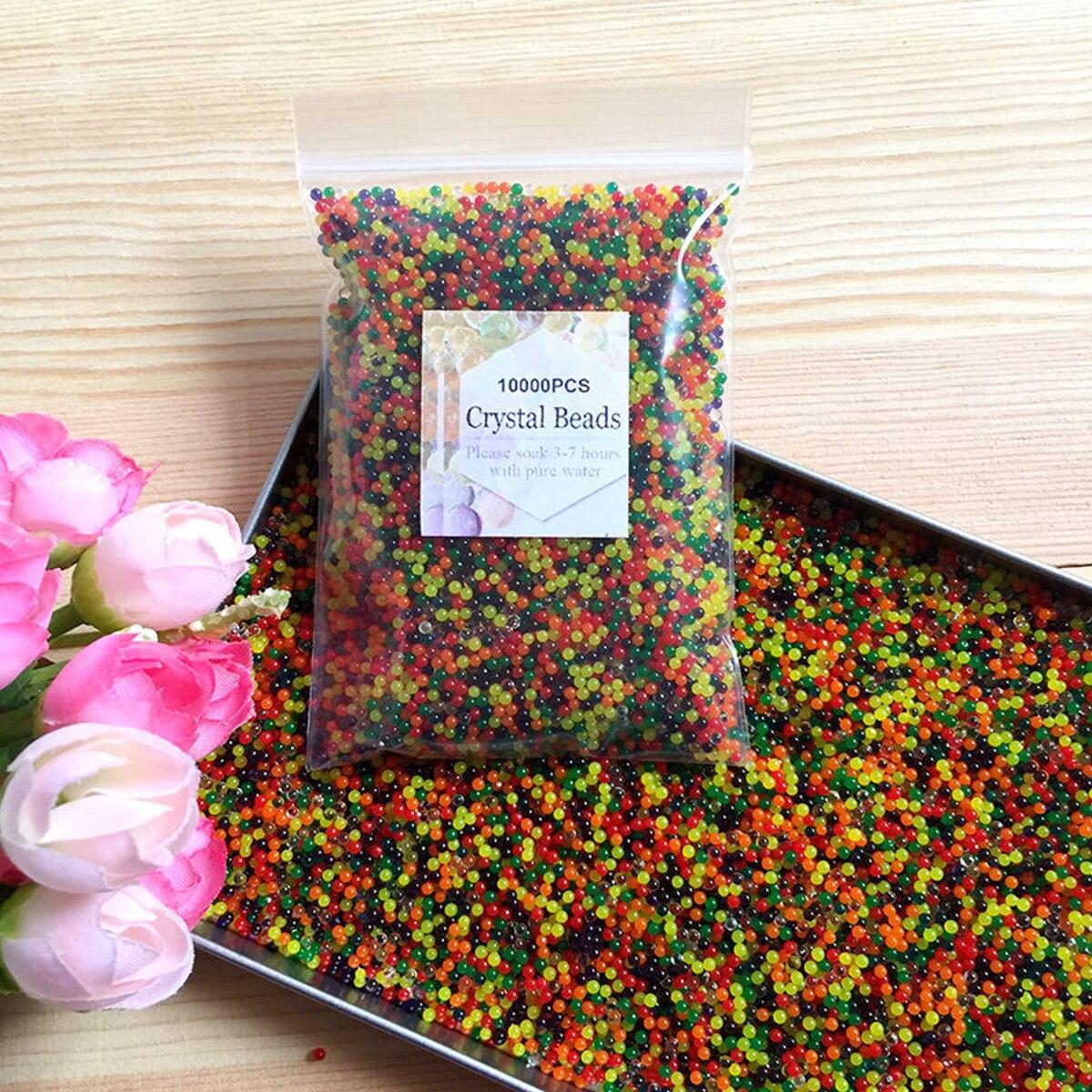 Image 3 - JIMITU 10000pcs/bag Crystal Soil Hydrogel Gel Polymer Orbiz Water Beads Flower/Wedding/Decoration Maison Growing Water Balls-in Toy Balls from Toys & Hobbies