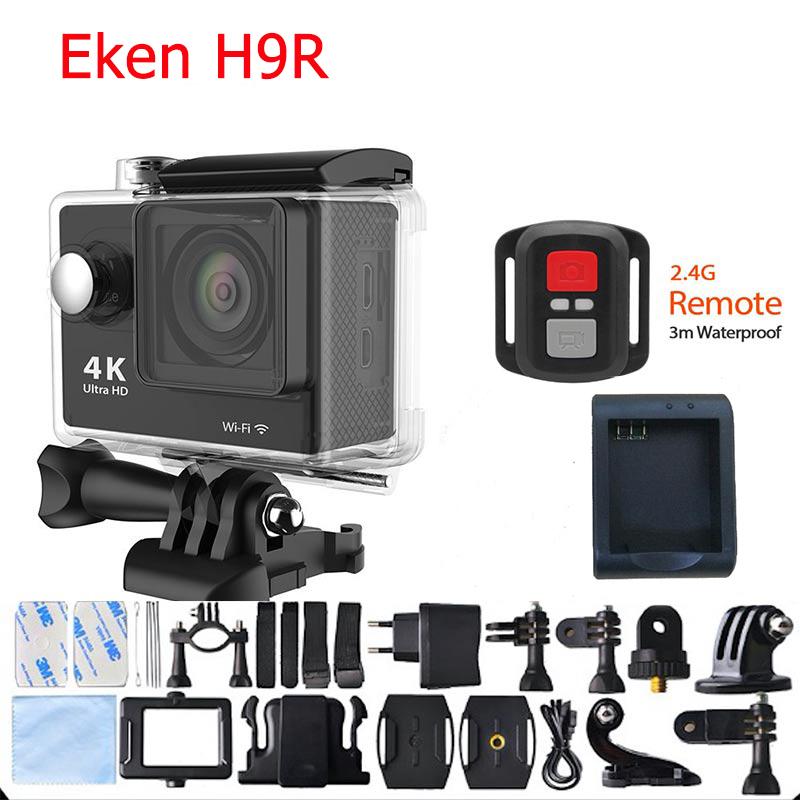 Prix pour Eken H9R 4 K D'action Caméra Ultra HD Gopro Style Sport Wifi 12MP 1080 p 30 M Sous L'eau Casque Cam 170D Objectif Télécommande