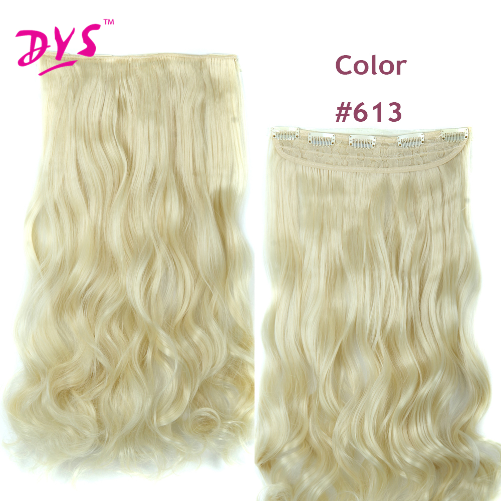 Deyngs 60CM One Piece 5 Clips in Hair Extensions For Women 34 Full Head Long Wavy16 Colors High Temperature Synthetic Fiber (13)