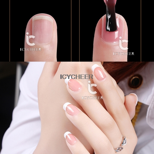 Icycheer Nail Art Gel Polish Lacquer Nude Transparent Color Soak Off
