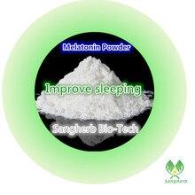 10 г Высокое качество Питания хорошо спать Дополнение Мелатонин порошок бесплатная доставка