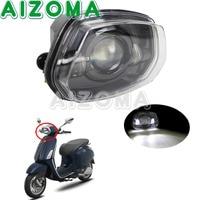 Aluminun светодиодный черный Водонепроницаемый мотоцикл фар сборки скутер освещения передние фары для Vespa Sprint 150 GL супер GTR