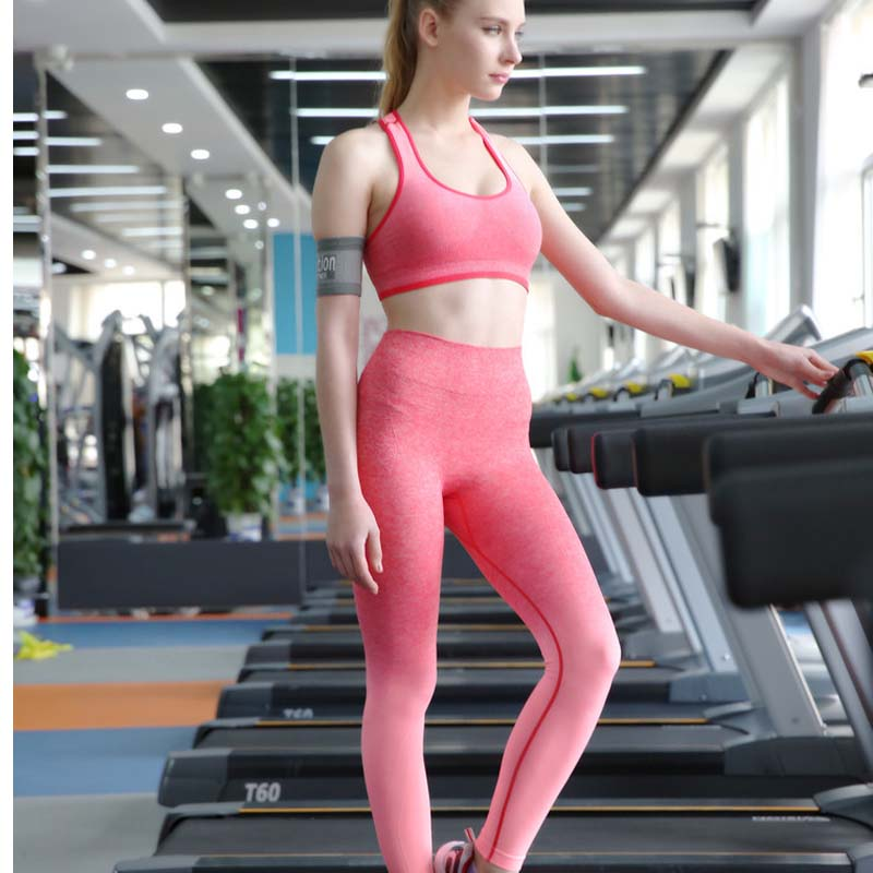 NEW Gradient Colors Tight Yoga Pants, Quick Dry Fitness Leggings .Women Gym Running Sports Pants Clothes