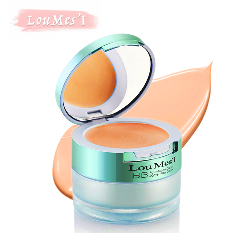 Loumesi concealer cream and pig cream two in 1 nude makeup faoundation cream base makeup face