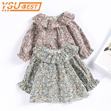 2019 Spring Summer Children Blouse For Girls Clothes 1-2Y Toddler Baby Girls Tops Kids Tee Shirt Flower Print Baby Outwear Stuff