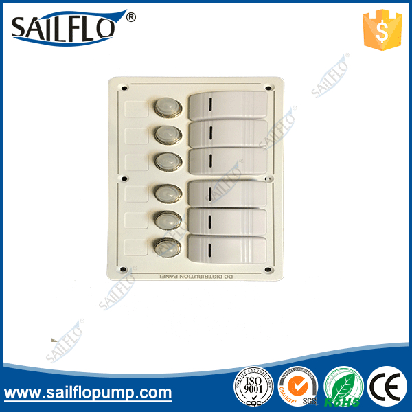 цена на 6P HY-LB6Z  Aluminium LED Rocker & Circuit Breakers Waterproof Marine Boat Switch Panel