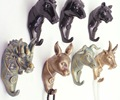 Chinese Zodiac Old Finish Style Fashion lifelook Wall Hanger 1PC Animal Style Bronze Resin Wall Hook Best Decoration Gift