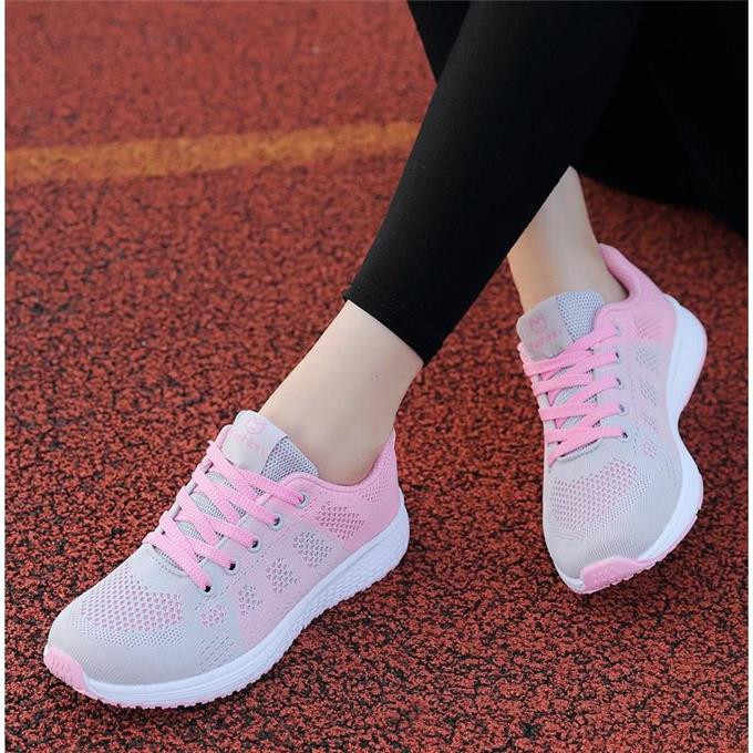 5464069da ... Fast delivery Women casual shoes fashion breathable Walking mesh lace  up flat shoes sneakers women 2019 ...