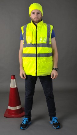2016 Safety Vest Chaleco Tactico Both Sides To Wear Reflective Cotton-padded Clothes Coat Breathable Winter Outdoor Necessary