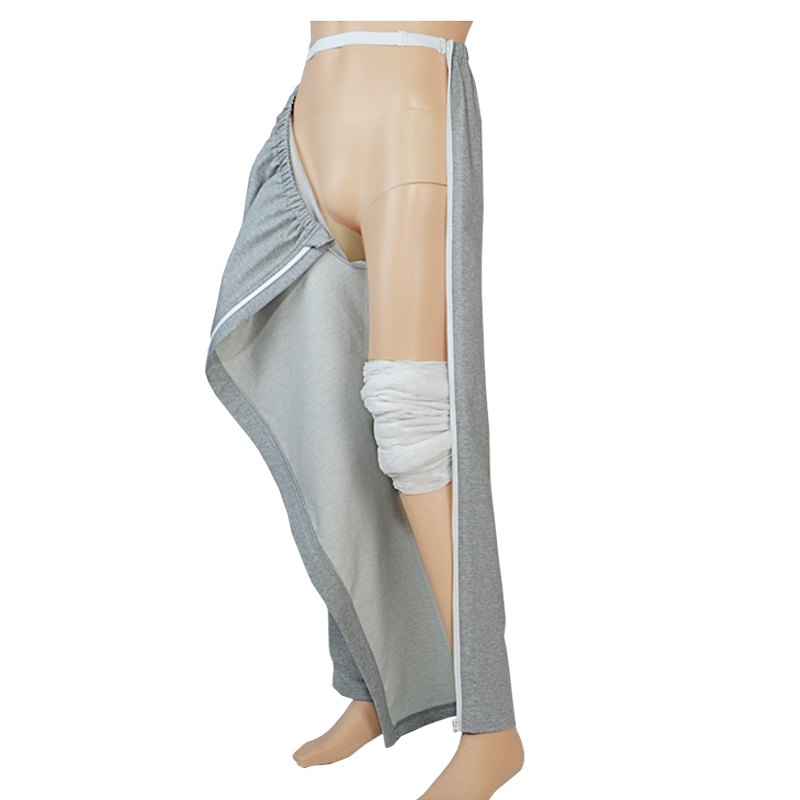 Men Patient Pants Care Clothes,Easy To Wear And Take Off,Hospital/Home Care Nursing Aid,Suit For Fracture, Bedridden