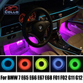 Гибкий Неон Холодный Свет EL Провода/Для BMW 7 E38 E65 E66 E67 E68 F01 F02 G11 G12/Консоль Автомобиля Декоративные Полосы/9 М A набор