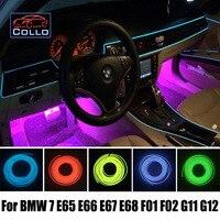 Flexible Neon Cold Light EL Wire / For BMW 7 E38 E65 E66 E67 E68 F01 F02 G11 G12 / Car Console Decorative Strip / 9 Meter A Set