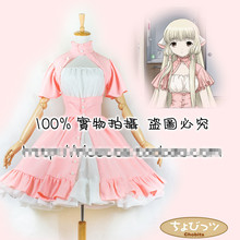 Gothic Lolita Chobits Chii Pink White Cosplay Costume Anime Dress Custom- made 5a3e072d84ed