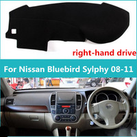 Dacron Right Hand Drive Car Dashboard Pad Instrument Desk Adiabatic Lucifugal Avoid Light Mat For Nissan
