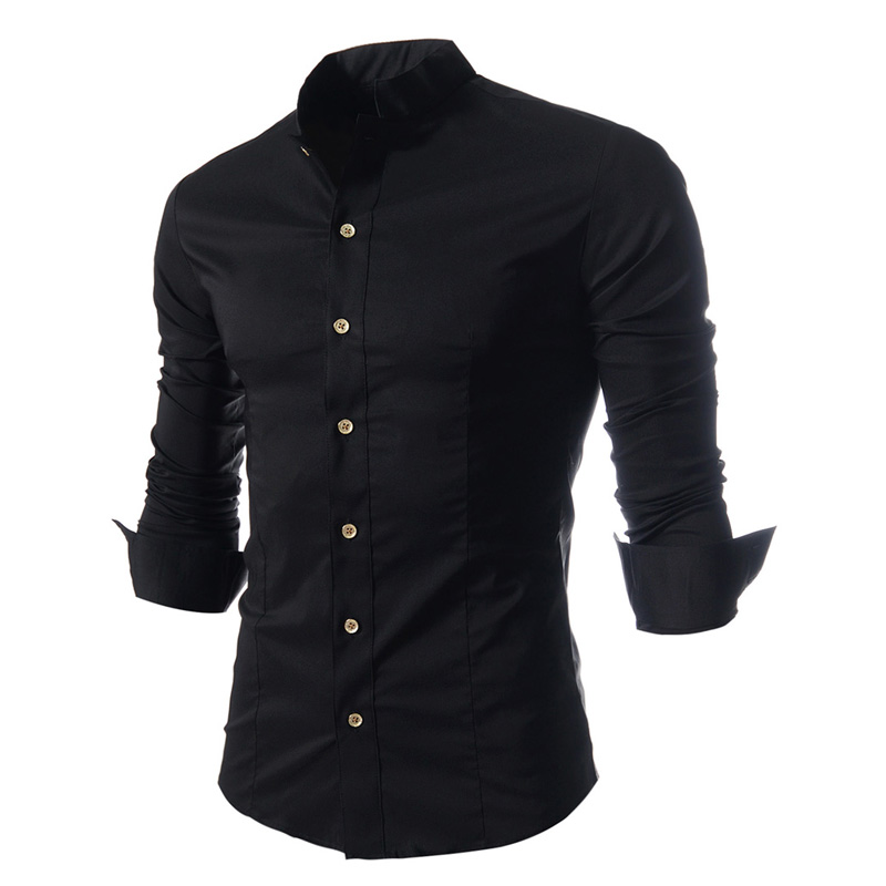 Hot 2020 Fashion Men Long Sleeve Single-breasted Shirt Camisa Social Masculina Chemise Homme Evening Shirts Men 's Dress Shirt