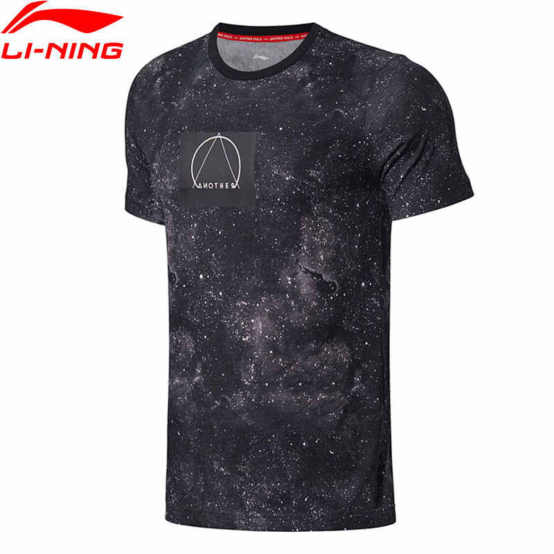 (Break Code) li-Ning Mannen De Trend Sport T-shirt 64% Katoen 36% Polyester Ademende Voering Li Ning Sport Tee Tops AHSN189 MTS2745