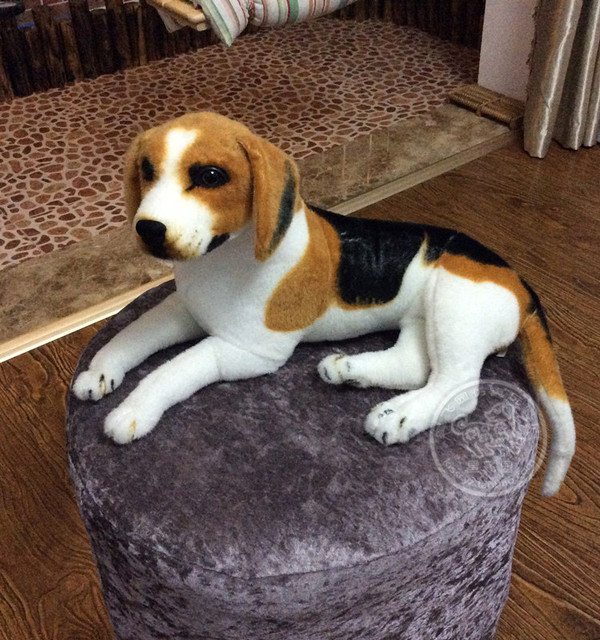 about 40cm prone beagle dog plush toy christmas gift birthday gift h567 - Christmas Beagle