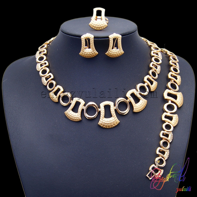 2016 hotsale African latest anchor and round shape chain silver and gold color women jewellery sets2016 hotsale African latest anchor and round shape chain silver and gold color women jewellery sets
