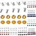 Nuevo 10 Unidad/Set Vehículo Universal Car Styling Cambiar Contraseña Placa Guardabarros Pegatinas Tornillos Arandela Auto Accesorios 6mm