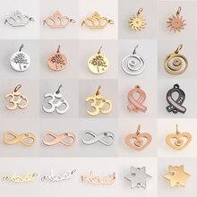 Изготовление подвесок, изготовление ювелирных изделий из золота, нержавеющая сталь, сердце, геометрические модные подвески для браслета, ожерелья, аксессуары