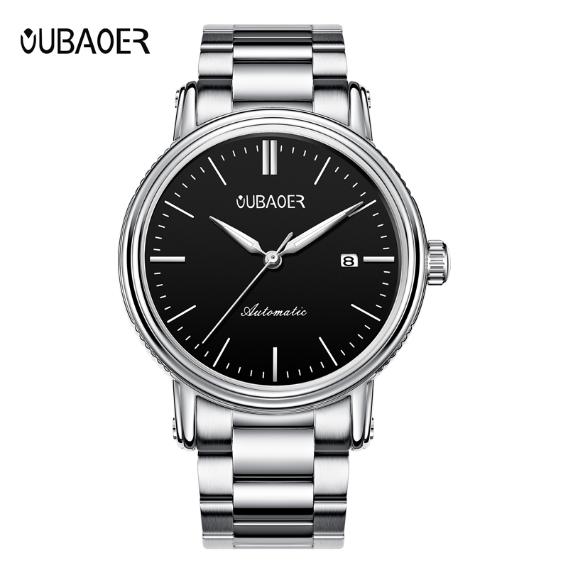 OUBAOER Business Watch Men Roles Automatic Mechanical Watches Stainless Steel Auto Date Self Wind Wristwatch Reloj Hombre OB2024 стоимость