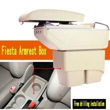 Para Ford Fiesta 3 MK7 engranaje de interruptor de la caja de los apoyabrazos central caja de accesorios caja De Almacenamiento apoyabrazos Ford 2009-2014