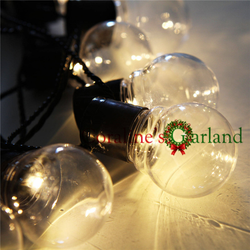 20 LED 6M Clear Globe Connectable Plug Festoon Party String Christmas Bulb String Lights untuk Outdoor Valentine Day