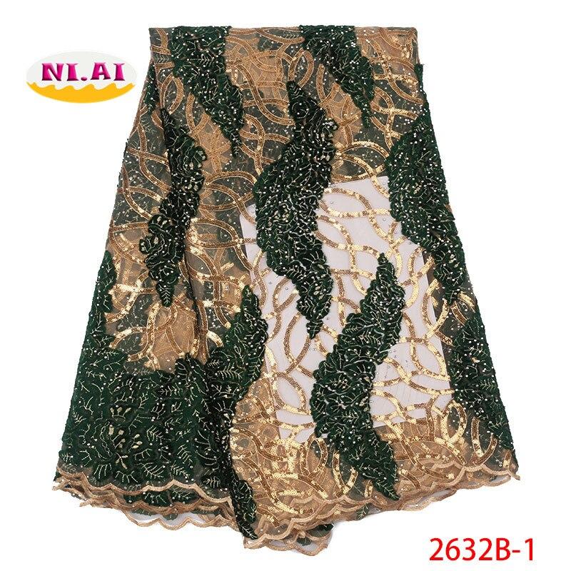 Ev ve Bahçe'ten Dantel'de Işlemeli Payet Dantel Tül Kumaş, Yeşil Altın Işlemeli Dantel, Yeni elbiseler Dantel Kumaş MR2632B'da  Grup 1