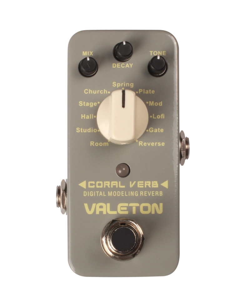 Valeton Coral Verb Digital Modeling Reverb Multi Effects  Electric Guitar Pedal german verb berlitz handbook