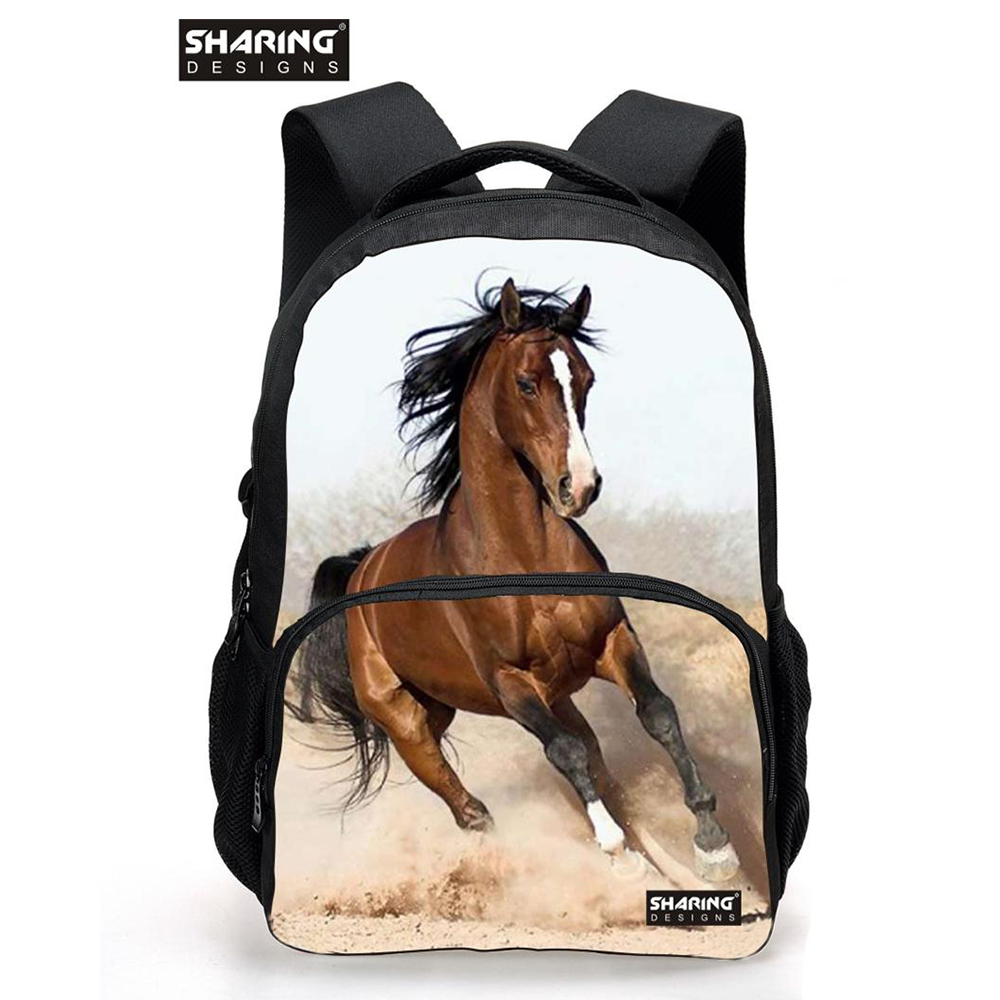 Large Children Animal Horse School Bag for Teenager Boys Girls Cool Dog Lion Schoolbag for Kids Fashion Men 39 s Travel Backbag in School Bags from Luggage amp Bags
