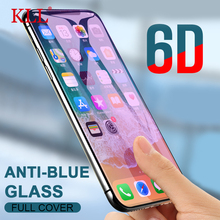 6D Curved Anti Blue Light Full Cover Screen Protector Film for iPhone X XS MAX XR Tempered Glass for iPhone 8 7 6 6s Plus Glass 6d anti purple blue ray tempered glass for iphone xs max xr x 6 6s 7 8 plus full curved screen protector eye protective film